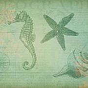 Vintage Ocean Animals Poster