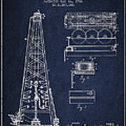 Vintage Oil Drilling Rig Patent From 1916 Poster