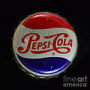 Vintage Pepsi Bottle Cap Poster