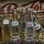 Vintage Pepsi Crate And Bottles Poster