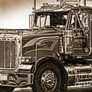 Vintage Peterbilt Truck Poster
