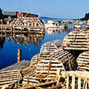 Lobster Traps In Maine Poster
