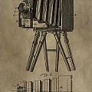 Vintage Photographic Camera Patent Poster