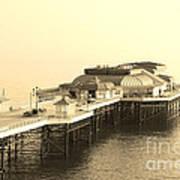 Vintage Pier At Dawn Poster