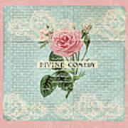 Vintage Pink Roses Poster