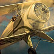 Vintage Plane In Flight Poster