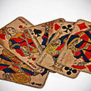 Vintage Playing Cards Art Prints Poster
