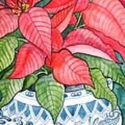 Vintage Poinsettia Poster