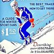 Vintage Poster - Sports - Skiing Poster