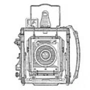 Vintage Press Camera Patent Drawing Poster