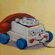 Vintage Pull Toy Series Phone Poster by Kelley Smith
