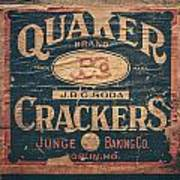 Vintage Quaker Crackers For The Kitchen Poster
