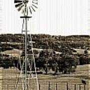 Vintage Ranch Windmill Poster