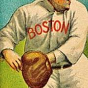 Vintage Red Sox Poster by Benjamin Yeager