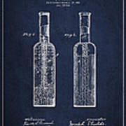 Vintage Rock Candy  Patent Drawing From 1881 Poster by Aged Pixel