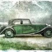 Vintage Rolls Royce Poster