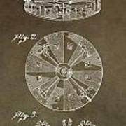Vintage Roulette Wheel Patent Poster