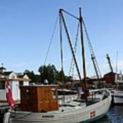 Vintage Sailing Boat - Ct Poster