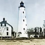 Vintage Sandy Hook Lighthouse Poster