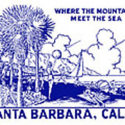 Vintage Santa Barbara Poster