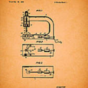 Vintage Sewing Machine Patent Poster
