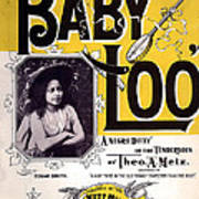 Vintage Sheet Music Cover  Circa 1898 Poster