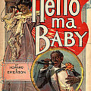Vintage Sheet Music Cover Circa 1900 Poster