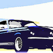 Vintage Shelby Gt500 Poster