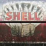 Vintage Shell Oil Rail Tanker Car Poster