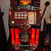 Vintage Slot Machine 25 Cents Poster