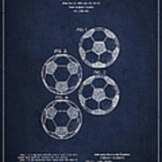 Vintage Soccer Ball Patent Drawing From 1964 Poster