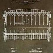 Vintage Starting Gate Patent Poster