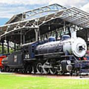 Vintage Steam Locomotive 5d29281 V2 Poster