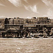 Vintage Steam Locomotive Poster