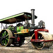 Vintage Steam Roller Poster