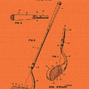 Vintage Stecher Gold Club Patent - 1960 Poster