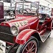 Vintage Studebaker Fire Engine Poster