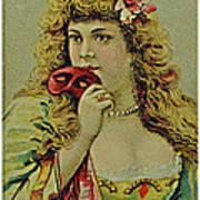 Vintage Tobacco Or Cigarette Card Poster by Susan Leggett