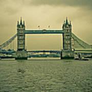 Vintage Tower Bridge Poster