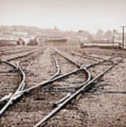 Vintage Tracks Poster