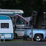 Vintage Trailer Truck Poster