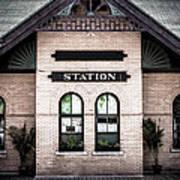 Vintage Train Station Poster