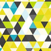 Vintage Triangle Pattern.geometric Poster
