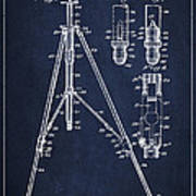 Vintage Tripod Patent Drawing From 1941 Poster