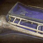 Vintage Trombone Poster