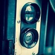 Vintage Twin Lens Reflex Camera Poster by Edward Fielding