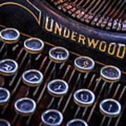 Vintage Typewriter 2 Poster