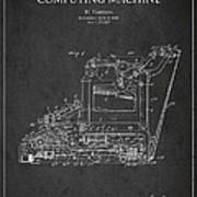 Vintage Typewriter Patent From 1918 Poster by Aged Pixel