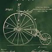 Vintage Velocipede Patent Poster