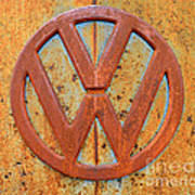 Vintage Volkswagen Bus Logo Poster